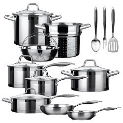 Duxtop Professional Stainless-steel 17-piece Induction Ready