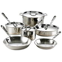 All Clad Copper Core 10-Piece Cookware