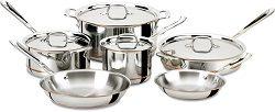 All Clad Copper Core 10-Piece Cookware Set