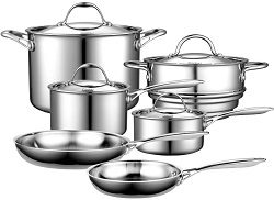 Cooks Standard Multi-Ply Clad Stainless-Steel 10-Piece Cookware