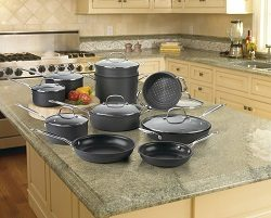 Cuisinart 66-17 Chef's Classic Nonstick Hard Anodized 17 Piece Cookware Set