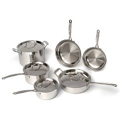 BergHOFF Earthchef Premium Copper Clad 10-Piece Cookware Set